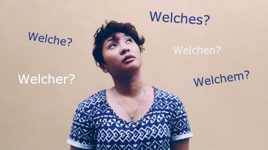 """How to use which - """"welch-"""" in German"""