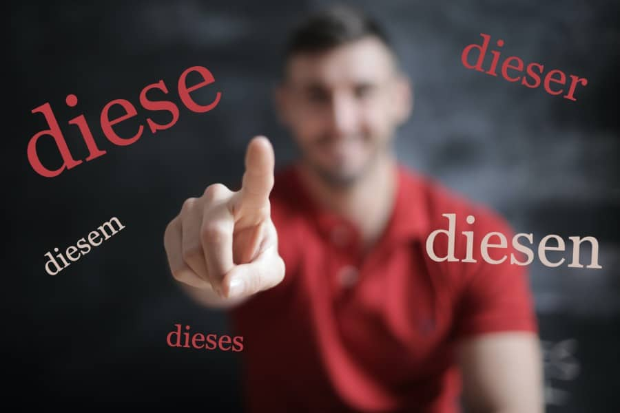 """Study German Online - How to use this or these - """"dies-"""" in German"""