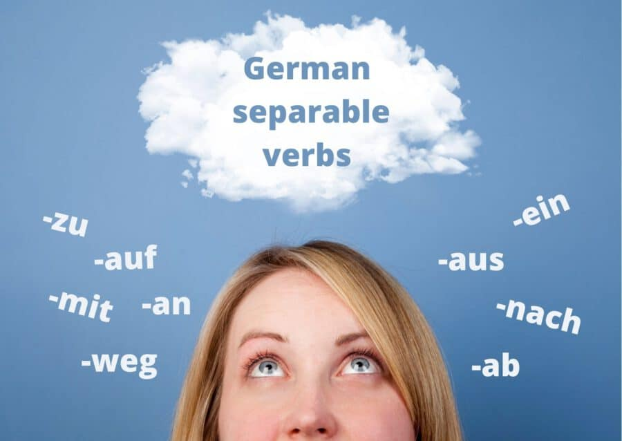 How to use separable verbs in German