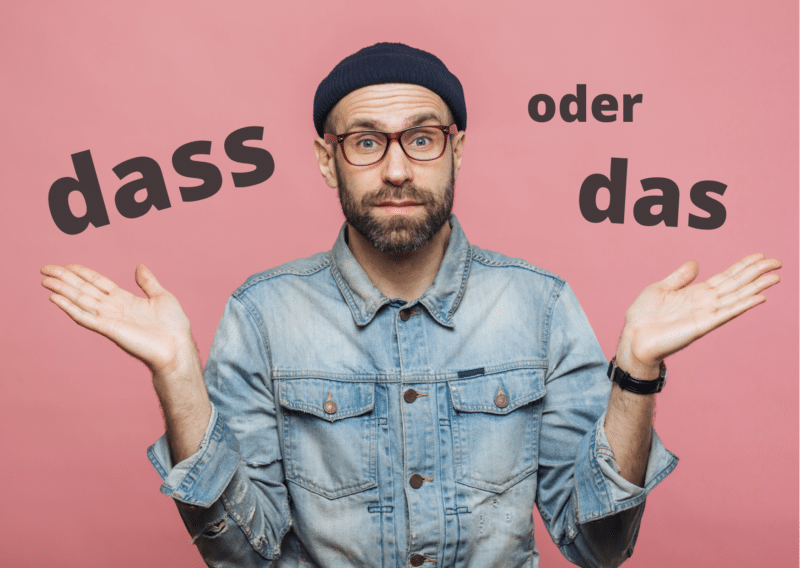 When to use dass or das in German